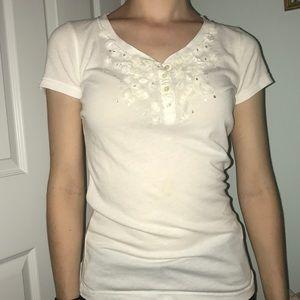 Hollister White Dressy Shirt XS